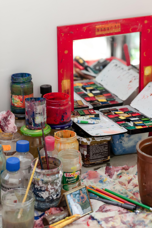 Painting studio.