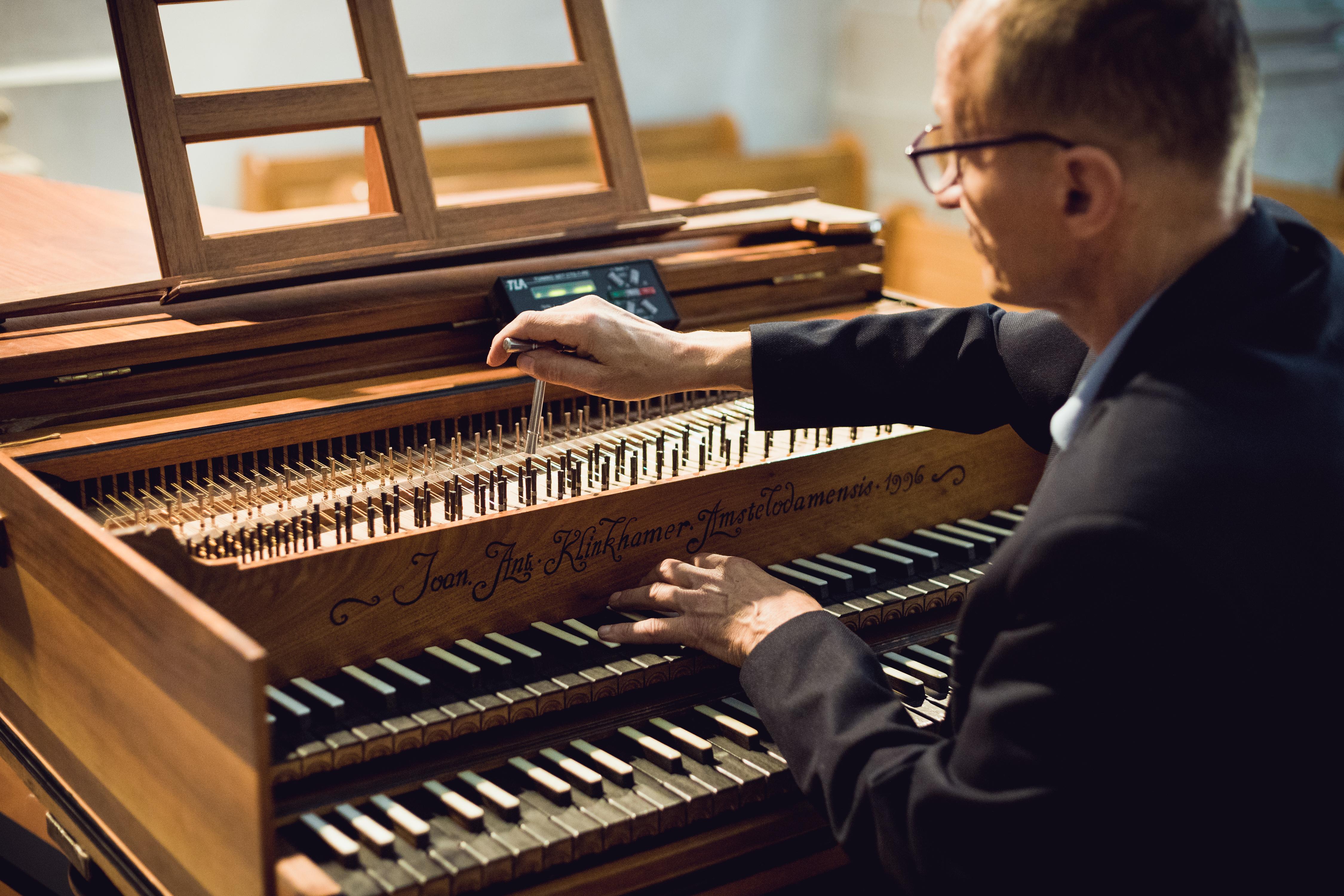 Klawesyn Klinkhammer z 1996 r. - kopia dawnego instrumentu.