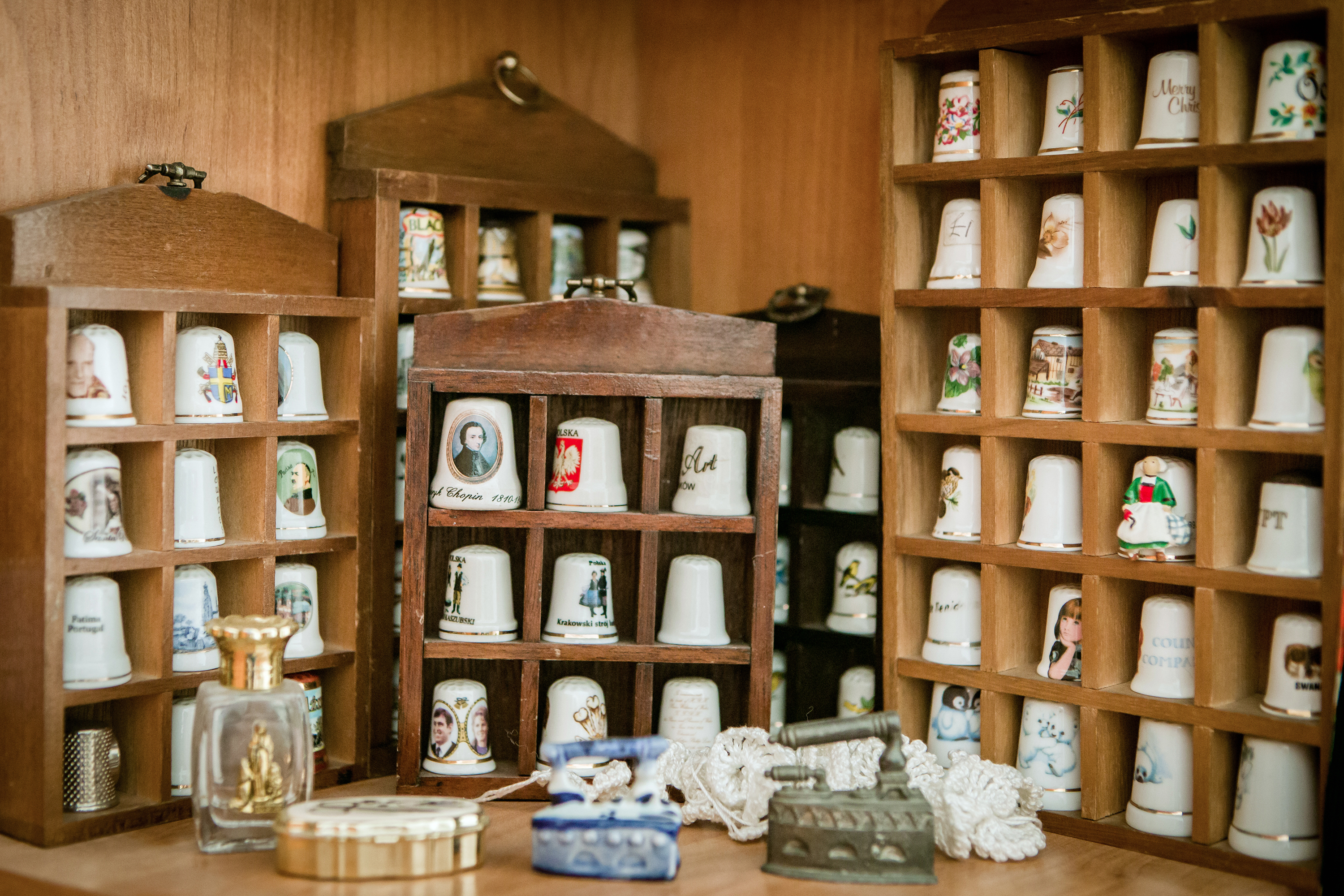 Collection of thimbles.