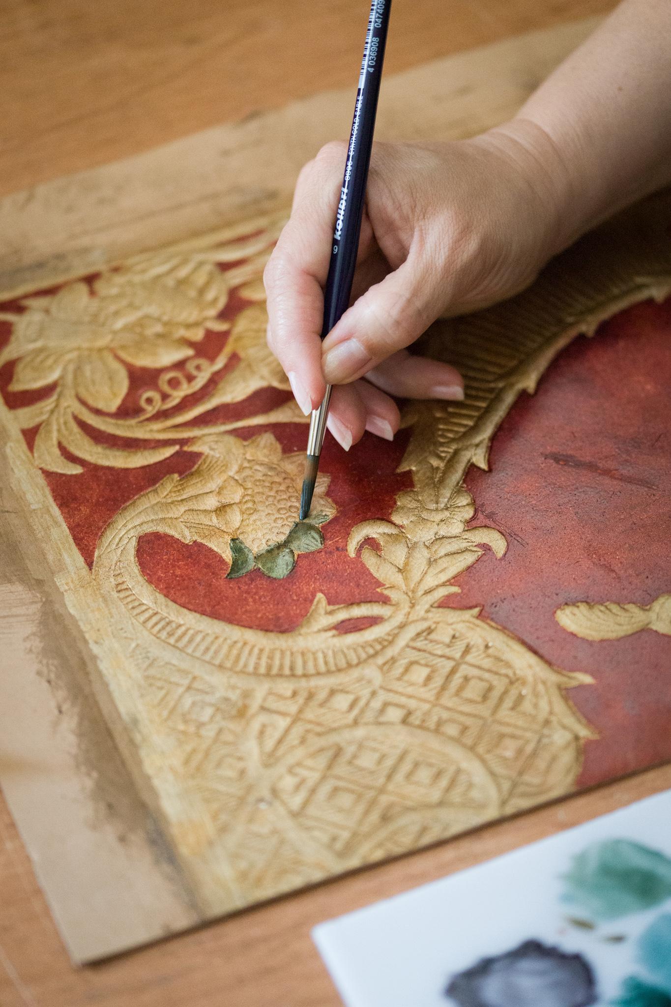Malowanie kurdybanu.